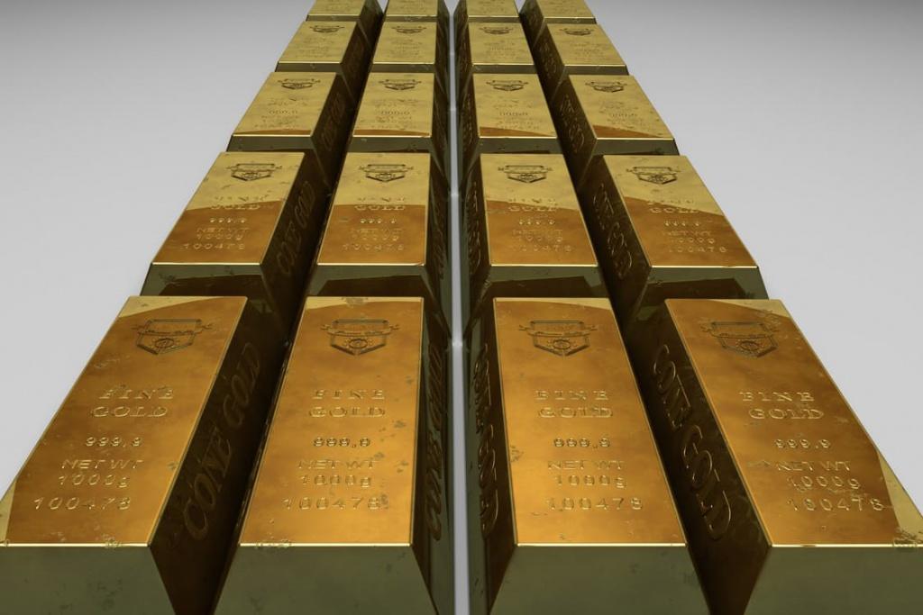 sztabki złota próby 999,9